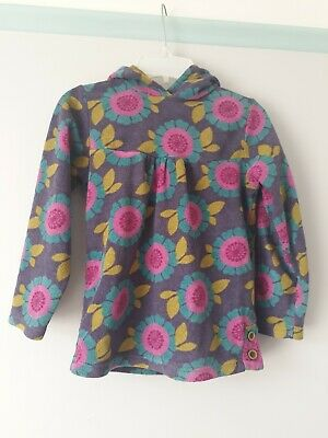 next fleece top floral with hood warm pretty 7 years girl