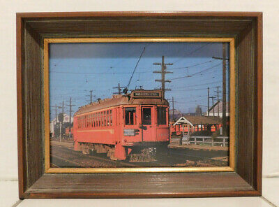 Framed Print of Pacific Electric Car #1106 In Los Angeles  8X6