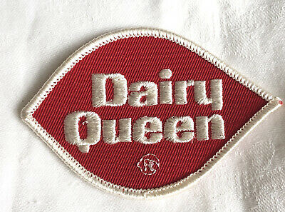 VINTAGE PATCH Embroidered DAIRY QUEEN ICE CREAM AMERICAN CHAIN CREST EMBLEM