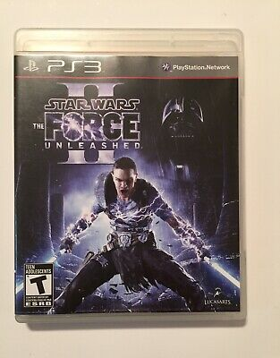 Star Wars Force Unleashed II Sony PlayStation 3 PS3 See Condition Works Complete