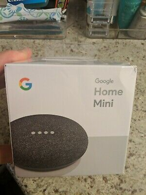 Factory Sealed Google Home Mini Smart Speaker with Google Assistant - Charcoal