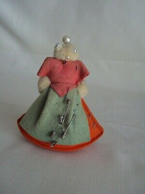 Vintage Felt  Figure Pin Cushion J/M