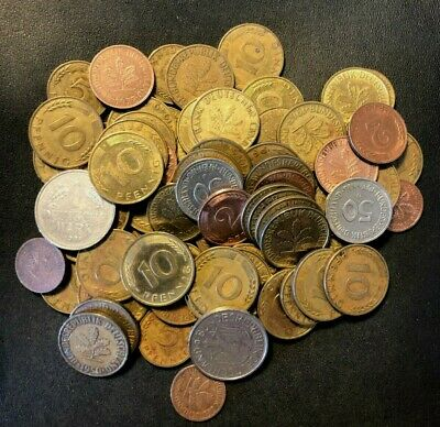Vintage Germany Coin Lot - 75+ COINS - Excellent Group of Coins - Lot #M22