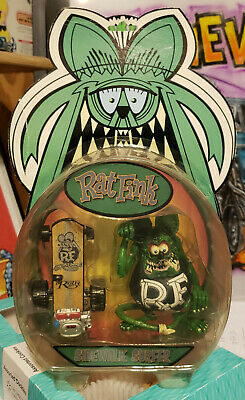 """2006 FUNKO Green Fink-BLK Overalls,WHT ltrs Rat-A-Tude skater Ed""""BIG Daddy""""Roth"""