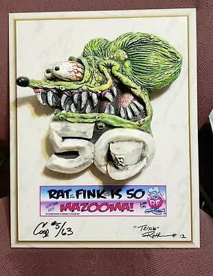 """'13 Ed """"BIG DADDY"""" Roth """"RF is 50"""" #5 of 63 airbrushed & signed by Coop n Trixie"""