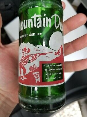 "Mountain Dew ""Maurice And Leo"" 10 Oz ACL Hillbilly soda Bottle"