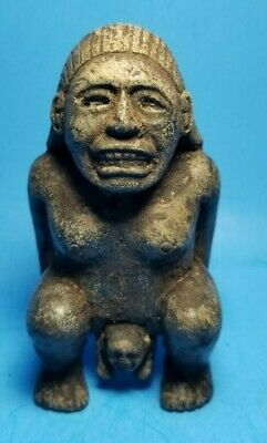 Pre-Columbian Mixtec Stone Women Figure