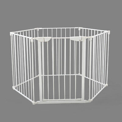 Fence Fireplace Pet Cat Dog Baby Safety Fence Hearth Gate BBQ Metal Fire Gate