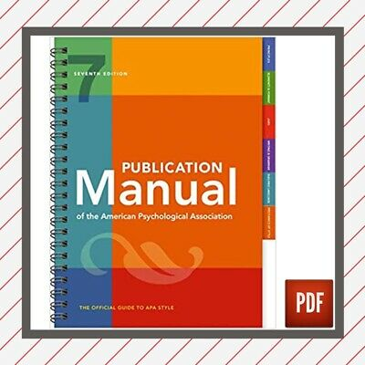 ✅ Publication Manual of the American Psychological Association 7th Ed 2020 PDF ✅