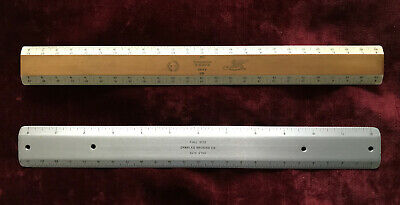 Two Vintage Drafting Rulers - K&E, Bruning