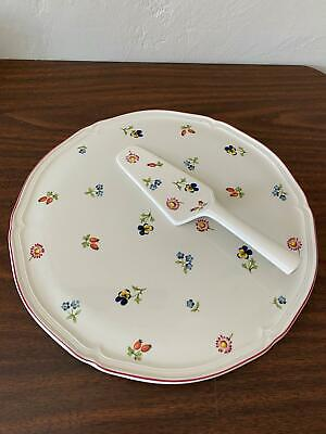 Villeroy & Boch Petite Fleur CAKE SERVING PLATE AND PIE /CAKE SERVER