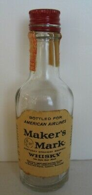*Rare* Maker's Mark Whisky Star Hill Farm American Airlines Mini Glass Bottle