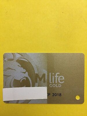 M Life Gold Casino Slot Players Card Exp 9/18