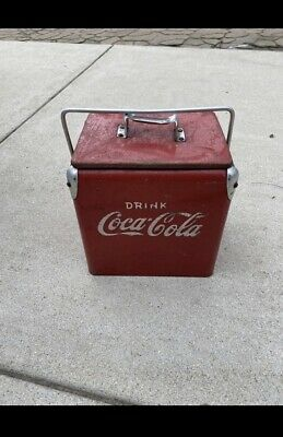 Original 1950's Vintage Coca Cola Portable Cooler