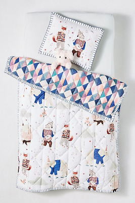 Anthropologie Cecile Metzger Jamboree Toddler Quilt New Without Tags
