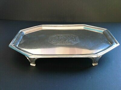Antique Octagonal Georgian Sterling Silver Tray Salver Crouch Hannam 1790