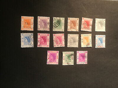Stamps - Bc Hong Kong Qeii (15) Used Mix Cond & Vals To $10 As Foto
