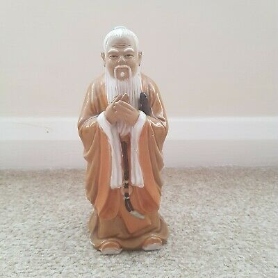 Wanjiang old Chinese Mud Man holding hands figurine number 42
