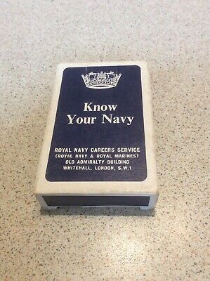KNOW YOUR NAVY VINTAGE PLAYING CARDS 1960s