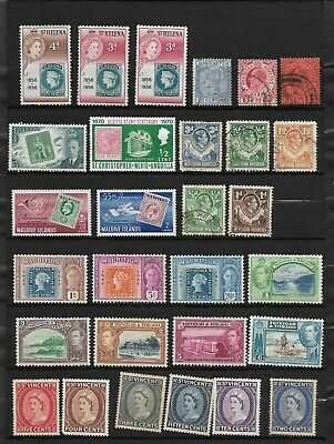 2 Stock Pages Stamps from Commonwealth Countries, Unused and Used