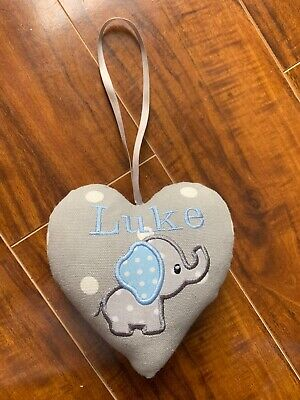 Personalised Luke Newborn Elephant Hanging Decoration