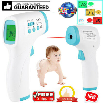 LCD Digital Thermometer Infrared Forehead Non-touch Adult Baby Temperature Gun