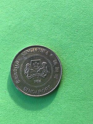 Beautiful 1986 Singapore 10 Cent Coin British Royal Mint No Reserve Auction