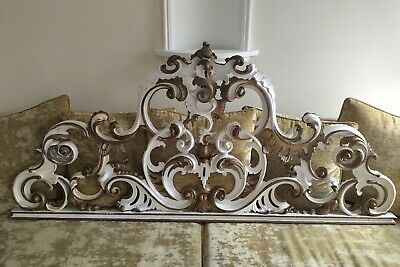 Solid French Style Carved Headboard 6' 183Cm Wide