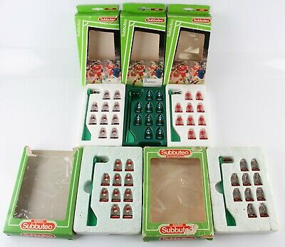 5 assorted boxed Subbuteo football teams inc Manchester City & Liverpool (Ref 5)