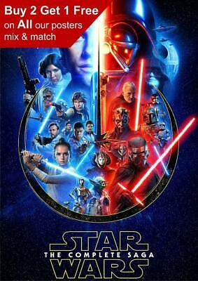 Star Wars The Complete Saga 2020 Poster A5 A4 A3 A2 A1