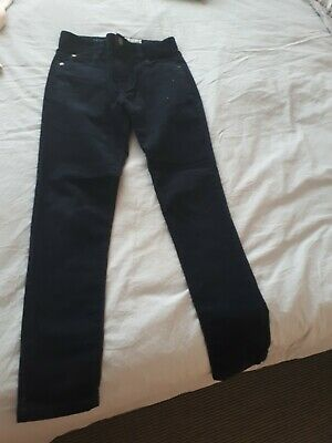Next Navy Boys Corduroy Skinny Jeans Age 12  Worn Once
