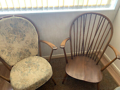 Original Vintage Ercol Chairs X2 With Arms