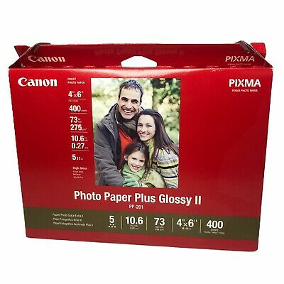 Canon PP-201 Inkjet Photo Paper Plus Glossy II 4 X 6 inch 400 Sheets