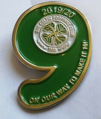 Celtic 9 in a row champions badge 2012 2013 2014 2015 2016 2017 2018 2019 2020