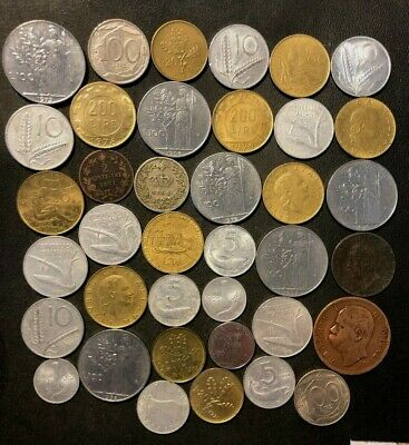 OLD ITALY COIN LOT - 1861-PreEuro - 38 Excellent Coins - Lot #M23