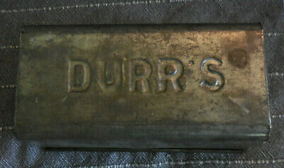 Vintage Durr's Tin Loaf Pan, used
