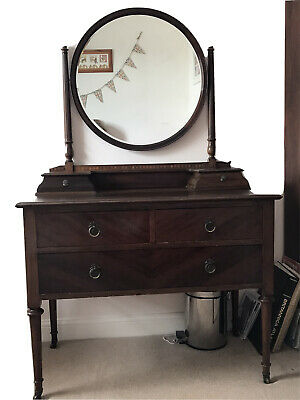 Vintage mahogany Dressing Table With Mirror