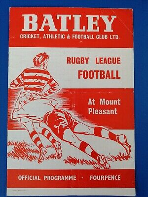 Official 1961 Leeds (Rhino's) vs Batley Rugby league programme
