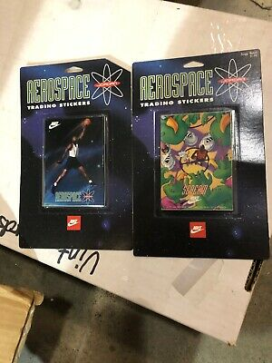 MICHAEL JORDAN Nike Space Jam Trading Cards Stickers SEALED  Aerospace 2 Packs