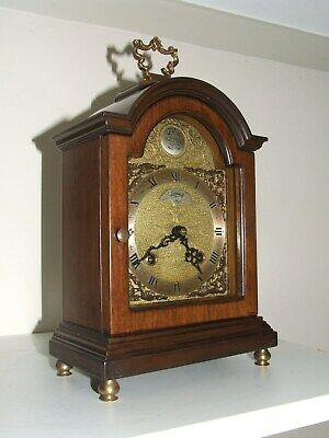 Dutch WARMINK/WUBA Bracket/Mantel/ Clock,2 Bell Chimes,8 day movement,Silent opt