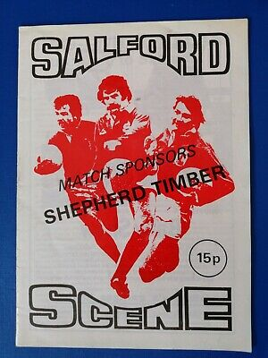 Official 1979 Leeds (Rhino's) vs Salford Rugby league programme