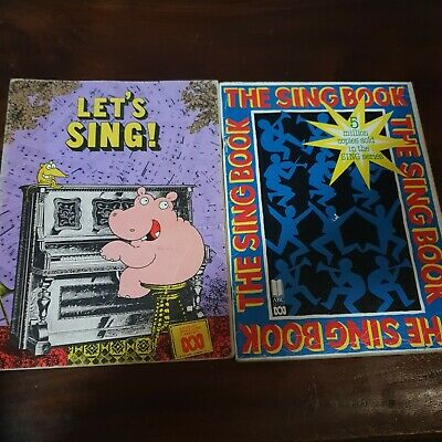 2x Vintage Song Books LET'S SING & THE SING BOOK ABC Sheet Let's Have Music
