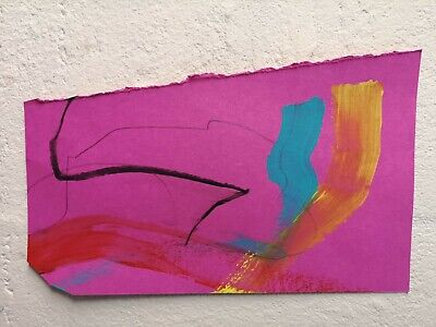Abstract Acrylic Painting 3 By Nigel Waters Original Signed *