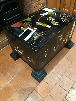 Chinese Black Trunk Chest