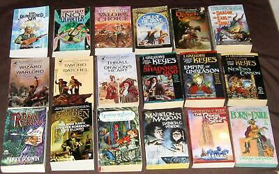 Lot of 18 Vintage Fantasy paperbacks, assorted authors, Dickson, Keyes & others