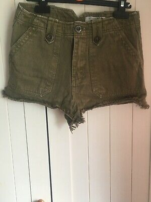 Girls Newlook Khaki Denim shorts age 13