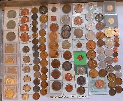 110 Mixed Presidential Tokens/Medals