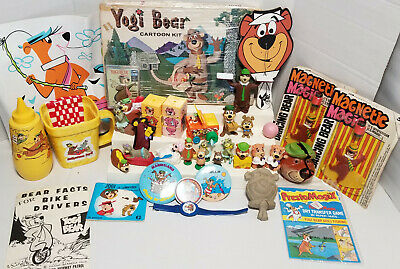 Lot of  Vintage Yogi Bear collectible Gold