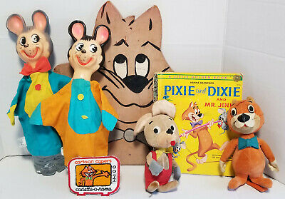 Lot of  Vintage Pixie and Dixie and Mr. Jinx collectible Gold