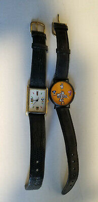 Lot of  Vintage Cartoon Network studio Watches collectible Gold